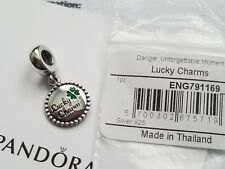 Auth Pandora Sterling Silver St. Patty's Day Lucky Charm ENG791169_81 US Exclusv