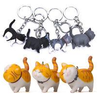 Cute Cartoon Cat Pendant Key Rings Kitten Key Chain Bag Keychains Jewelry Gift