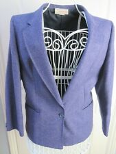 PITLOCHRY Shetland Vtg Wool Tweed Blazer Jacket Size 14 Best Fit Size 12 Lilac