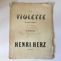 Partitura La Violeta Henri Herz Op.48 Para Piano Benedicto