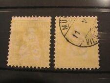 Switzerland stamps 1862/67; 15c yellow; unused and used
