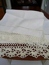 "Vintage Mantle Cloth~Show Towel~Table Runner~Crochet~16 x 52""~Linen~Crochet~"