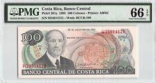 Costa Rica 1993 P-261a PMG Gem UNC 66 EPQ 100 Colones
