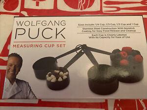 Wolfgang Puck Measuring Cup Set NIP Nonstick Coating Black