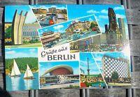 Salutations de Berlin Carte Postale 50er 60er Années Krüger 921/52 Å