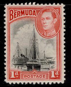 BERMUDA GVI SG114, 1d black & rose red, M MINT. Cat £50.