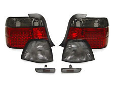 97-99 BMW E36 318ti Euro Red/Smoked LED Tail Lights+Corner Signals+Side Markers