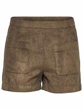 875/2 NEU ONLY Damen Leder Hose Hotpant PENNY FAUX SUEDE SHORTS OTW  Gr. 38