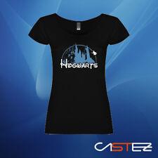 Camiseta mujer hogwarts mago castillo parodia disney basado potter ENVIO 24/48h