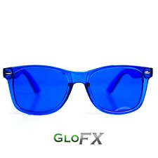 GloFX Blue Color Therapy Glasses Blue Poker Glasses Sunglasses Rave DJ Rave Club