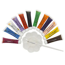 Painting Colors Pigment Tubes Dappen Dish Brush Set Nail Art Decoration Tools