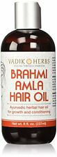 Brahmi Amla Hair Oil 8 oz Ayurvedic herbal hair growth oil and hair conditioning