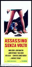 ASSASSINO SENZA VOLTO LOCANDINA CINEMA GIALLO 1968 KILLER WITHOUT A FACE POSTER