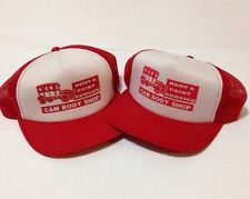 Vintage Red C And M Body Shop Snapback Trucker Ford Model T Nylon Mesh Hat