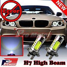 2 x H7 COB 6000K LED High Beam Headlight Bulbs CREE Decoder Error Free Canbus P2