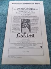 GANDHI(1982)BEN KINGSLEY ORIGINAL PRESSBOOK PLUS LARGE AD MAT SECTION