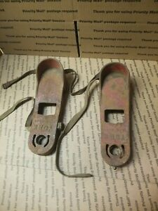 Vintage Cast Iron York fitness Shoes barbell work out display look