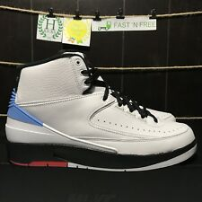 Nike Air Jordan Retro 2 Alumni UNC White Red Blue 917360 105 Size 8