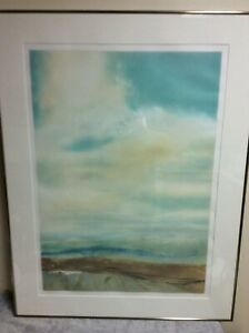 """John Maxon (American,1947) """"Voyage"""" Abstract Mountain Landscape Giclee. Signed"""