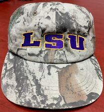 L S U TIGERS CAMOUFLAGE BASEBALL CAP (RARE) NATURAL GEAR BRAND