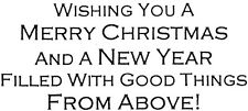 Unmounted Rubber Stamps, Christian Stamps, Merry Christmas & Happy New Year,