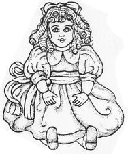 Unmounted Rubber Stamp, Cute Stamps, Old Fashioned Doll, Vintage Baby Doll, Toys