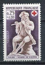 FRANCE TIMBRE NEUF N° 1540 ** JOUEUR DE FLUTE CROIX ROUGE