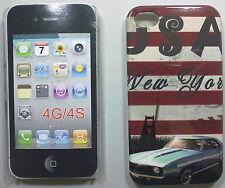 COVER CUSTODIA RIGIDA APPLE IPHONE 4- 4S CARTOLINA NEW YORK USA