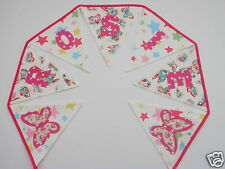 Girls Personalised Bunting CATH KIDSTON Butterfly+Star Fabric£2.50/lettered flag