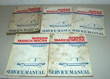 Werkstatthandbuch Workshop Manual Nissan March / Micra K 10 /5 Bände St.1983-88