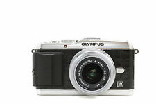 Camera Leather decoration stickers for Olympus PEN E-P3 Crocodile Black Type