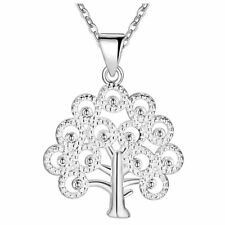 925 Sterling Silver Life of Tree Pendant Necklace Women Jewelry Fashion Gift