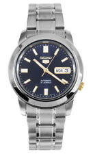 Seiko Automatic SNKK11 SNKK11K1 Men Day Date Blue Dial Stainless Steel Watch