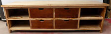 TV stand in Teak solid wood mobile cm 150x40x45h 4 drawers theshold furniture