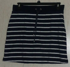 NEW WOMENS Croft & Barrow NAVY BLUE & WHITE STRIPE KNIT SKORT  SIZE M