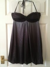 Ladies Strappy Evening Top - Size 12 - Jane Norman - Mink/Brown