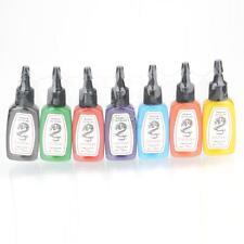 7 Color Premium Tattoo Ink Pigment Supplies Bright Set Kit 1/2 oz ounce