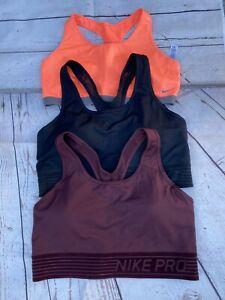Nike Dri Fit Sports Bra Womens Medium Lot Of 3 Sz XL