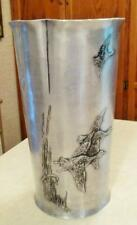 Early Wendall August Forge Hand Soldered Tall Vase