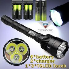 TrustFire 3x  XML T6 LED 5mode 48000lm Flashlight Torch + 18650 BTY+Charger/ G