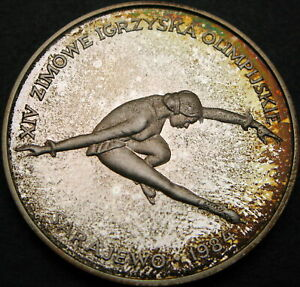 POLAND 200 Won 1984 Proof - Silver - Olympic Games 1984 - 1056 ¤