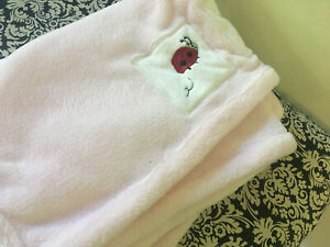 "Kidsline Ladybugs Pink Fleece Baby Blanket Lovey  Plush Girls SOFT 30"" x 40"""