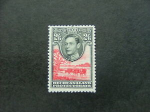 Bechuanaland Protectorate KGVI 1938 2/6 black & scarlet SG126 MM