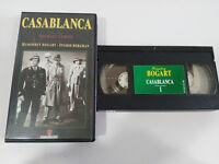 Casablanca Humphrey Bogart Ingrid Bergman MICHAEL Curiz VHS Tape Spanish