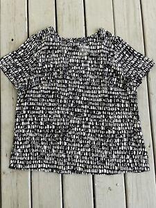 New Eileen Fisher Women Size 1X Seraglio Printed Silk Blouse Top