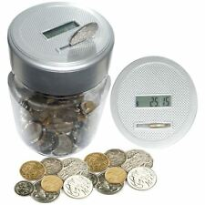 Vinsani Digital Coin Counting Money Jar LCD Display Piggy Box Counters Coins