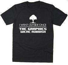 Ich ging nicht einmal die Grafiken waren Müll-Lustiges Geek T-Shirt