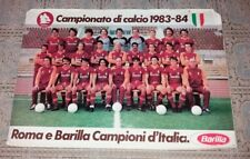 POSTER AS ROMA Scudetto 1983 Ufficiale Totti Collezione Calcio Soccer Barilla