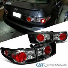 Fit Honda 03-05 Accord 4Dr Sedan Replacement Black Tail Lights Brake Park Lamps