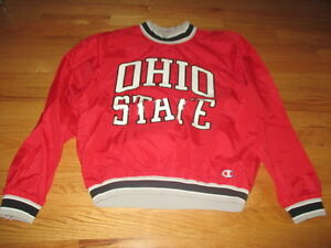 Vintage Champion Label - OHIO STATE BUCKEYES (LG) Pullover Windbreaker Jacket